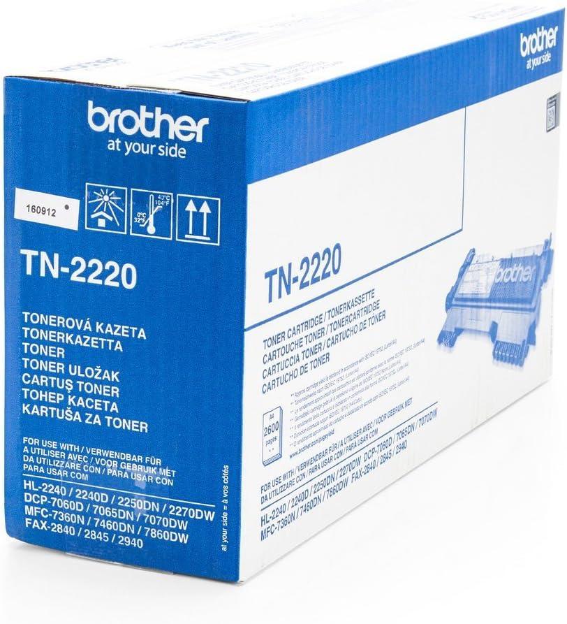 Original Toner For Brother Hl 2250 Dn Brother Tn2220 Tn 2220 Premium Ink Cartridge Black 2 600 Pages Bürobedarf Schreibwaren