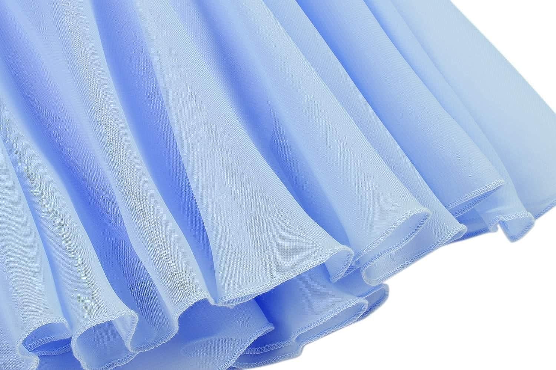 KELAND Kids Girl\s Wear Short Sleeve Round Neck Leotard Dress Ballet Jumpsuits /& Rompers