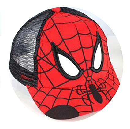 25dbd5ce5399e Amazon.com   Baseball Cap Kids Boy Girl Hip Hop Hat Spiderman Sun ...