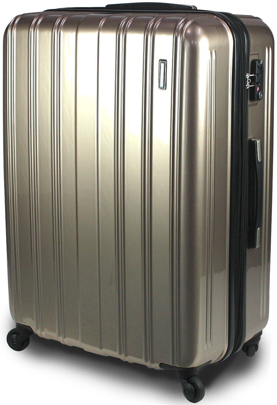 【新品アウトレット商品】 【SUCCESS サクセス】 スーツケース 3サイズ( 大型  ジャスト型  中型 ) TSAロック 搭載 超軽量 レグノライト2020~ ミラー加工 キャリーバッグ … B07BS8HPCL 大型 Lサイズ 76cm|ゴールド ゴールド 大型 Lサイズ 76cm