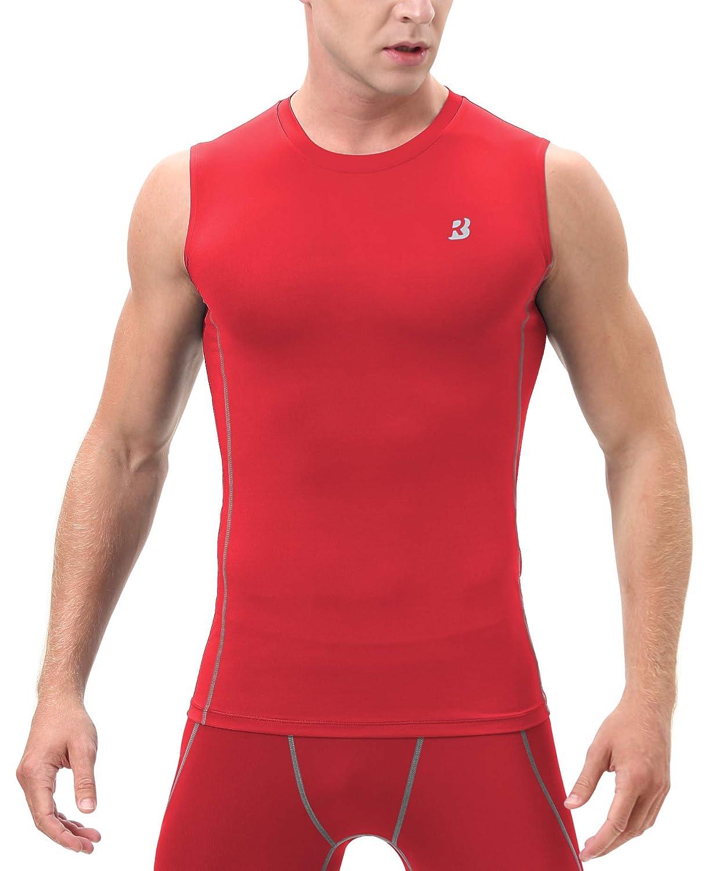 Roadbox Mens Athletic Compression Sleeveless Shirt Sport Muscle Tank Top