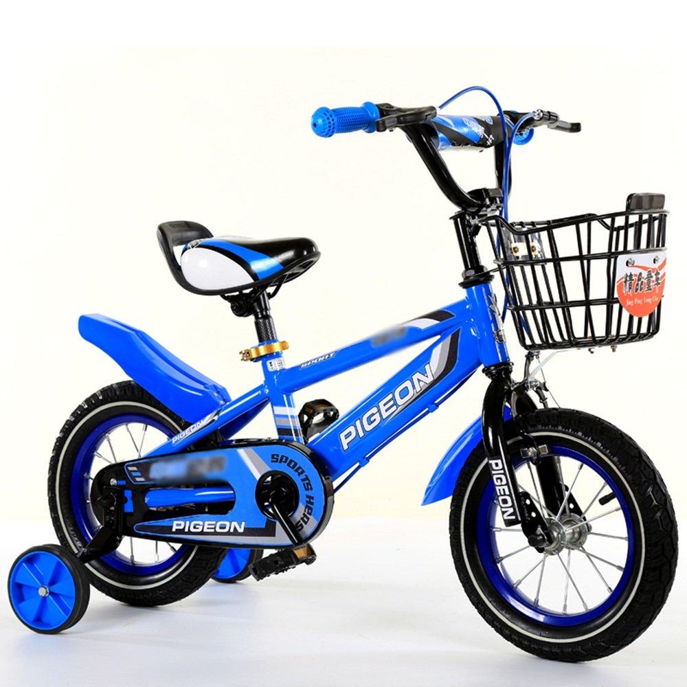 HAIZHEN マウンテンバイク 男の子、女の子用キッドバイク、12インチ、14インチ、16インチ、18インチ、85%組み立て、5色の子供用ギフト 新生児 B07C3S7YMY 16 inch|青 青 16 inch