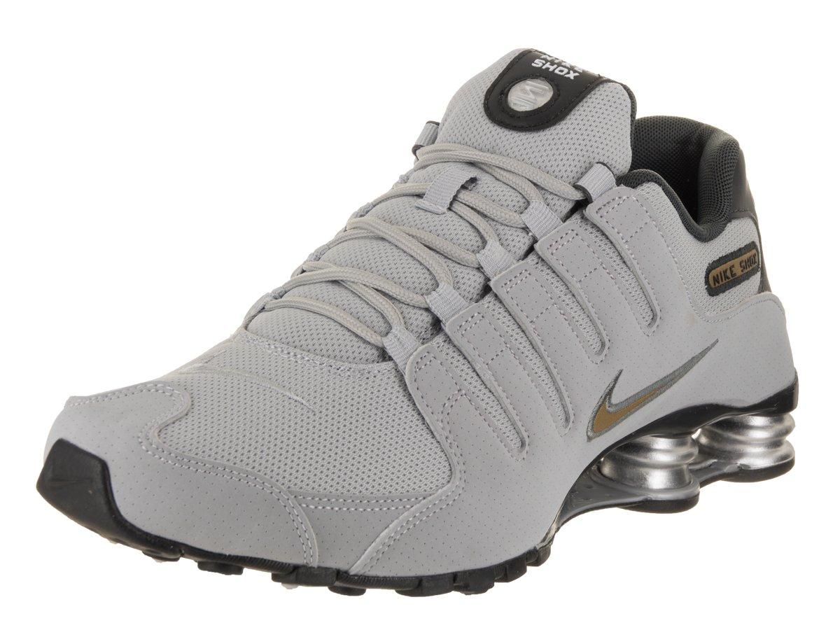 Nike Heren Shox NZ Loopschoenen Wolf Grijs/Metallic Goud ideaal en stijl 7L6C69