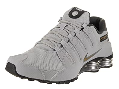 3db04a095828 ... australia nike shox nz 378341 008 wolf grey metallic gold mens running  shoes 8 ffe95 23a0f