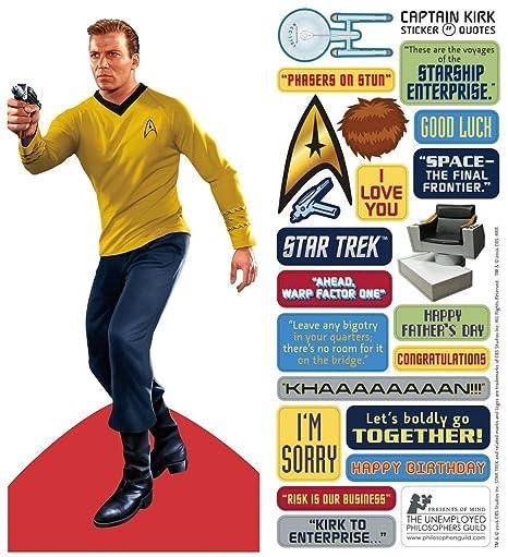 Unemployed Philosophers Guild Captain Kirk Star Trek Greeting Card
