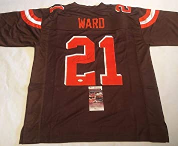 Image Unavailable. Image not available for. Color  Denzel Ward Autographed  Signed Cleveland Browns Brown Jersey - JSA Authentic Memorabilia ... 972db4c1d
