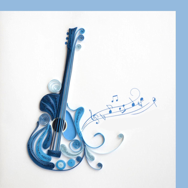 Origamo qu050 – Tarjeta de felicitación, Guitarra, Filigrana de ...