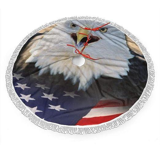 Falda de árbol de Navidad: águila americana, bandera y mucho ...