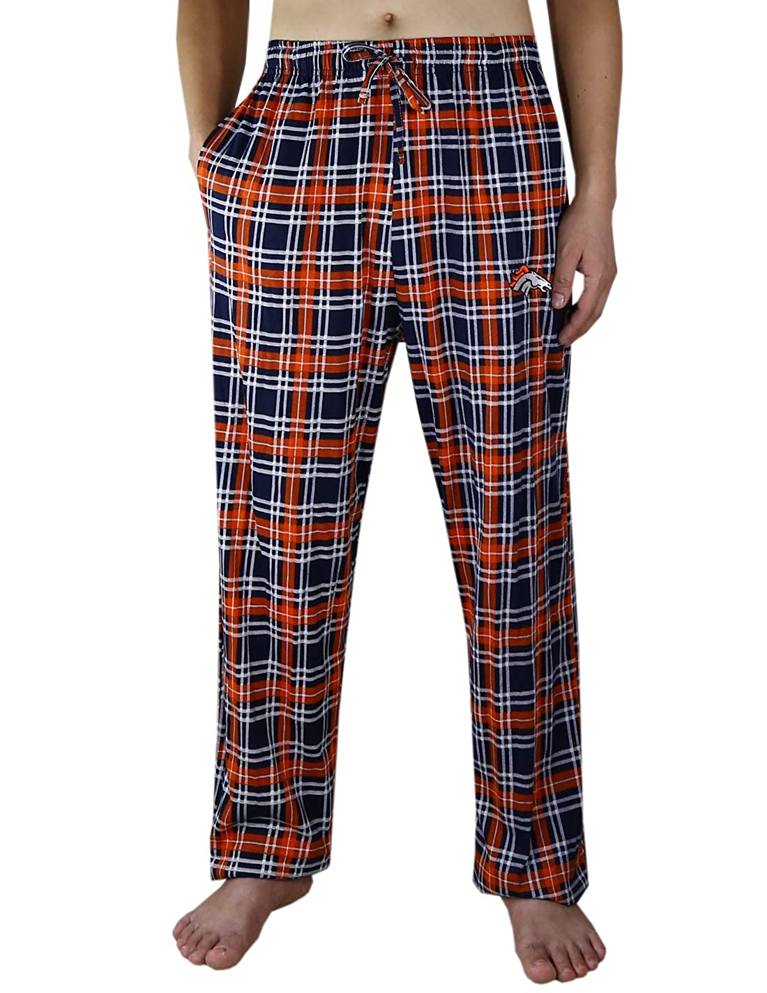 Mens Athletic Plaid Pajama Pants:DEN Broncos Mulitcolor