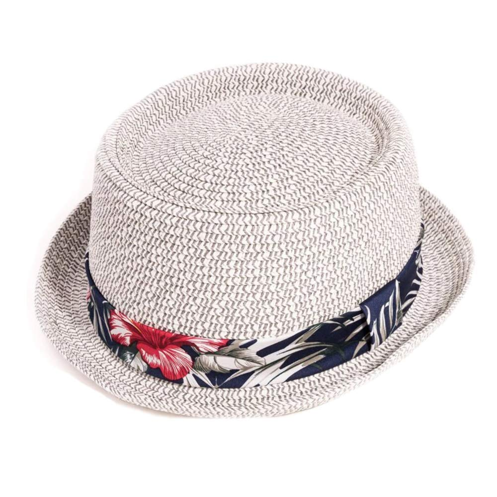 Straw Mens Fedora Hat Trilby Summer Sun Festival Hat By A/&G