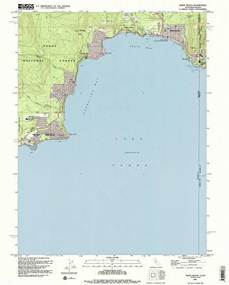 Amazon.com : YellowMaps Kings Beach CA topo map, 1:24000 Scale, 7.5 on santa fe springs map, fresno map, coloma map, rancho murieta map, brentwood map, loomis map, thunderbird lodge map, lake tahoe map, dollar point map, gardena map, pollock pines map, berkeley map, donner pass map, mons map,