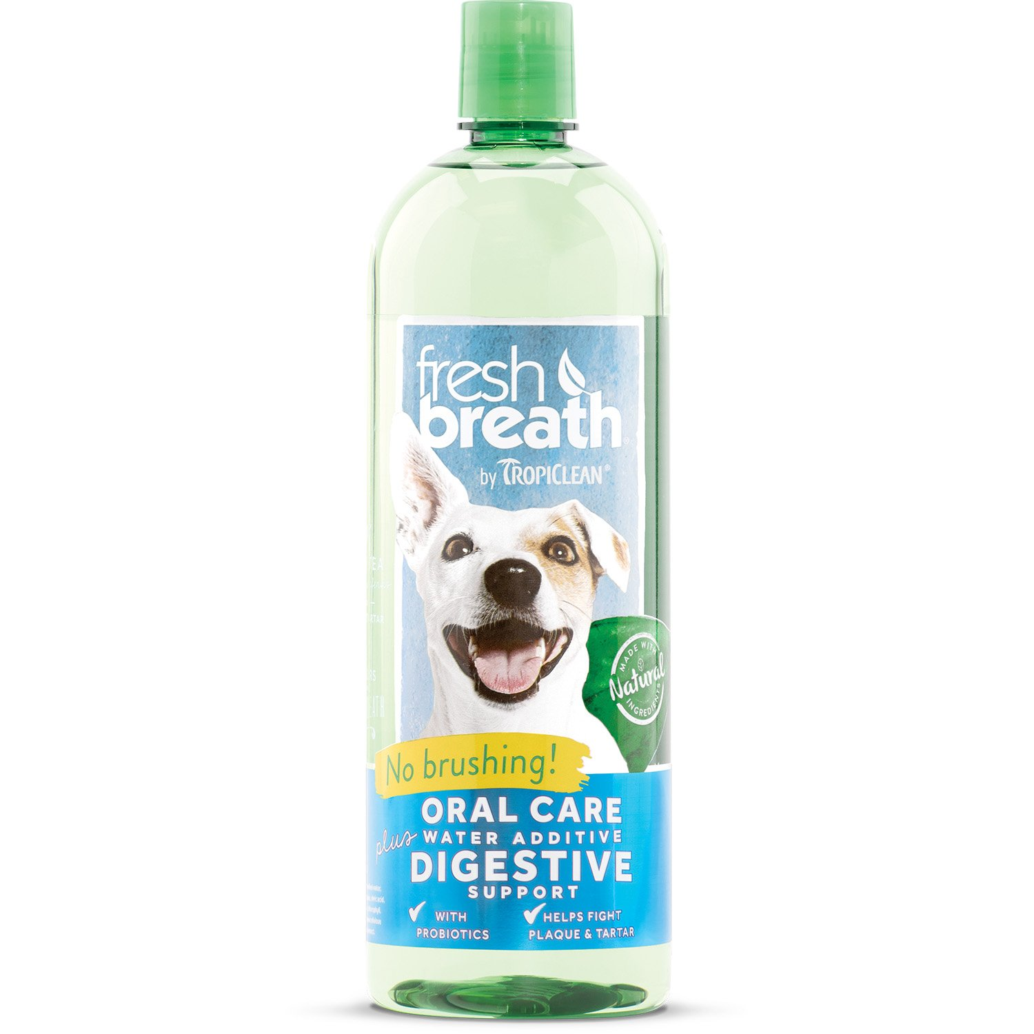 Tropiclean Fresh Breath Oral Care Water Additive Plus Digestive Support, 33.8oz