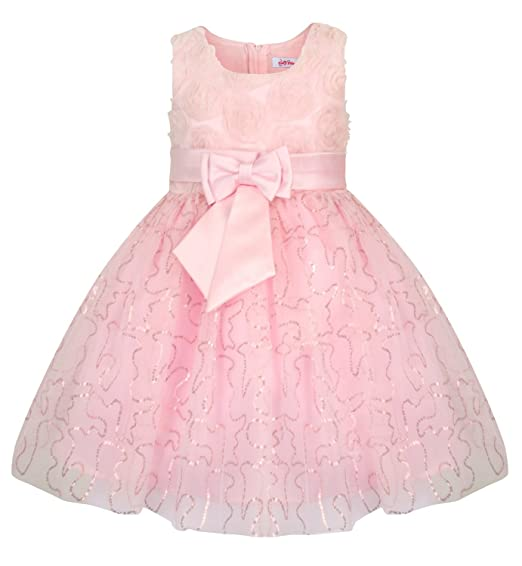 f39c4de0c45d9 Fairy Princess Lucy Lou Pink Flower Girl Bridesmaid Dress: Amazon.co ...