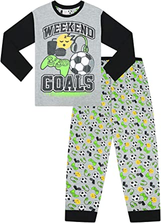 Pijama largo para niños con portería de fin de semana para jugar con música y comida
