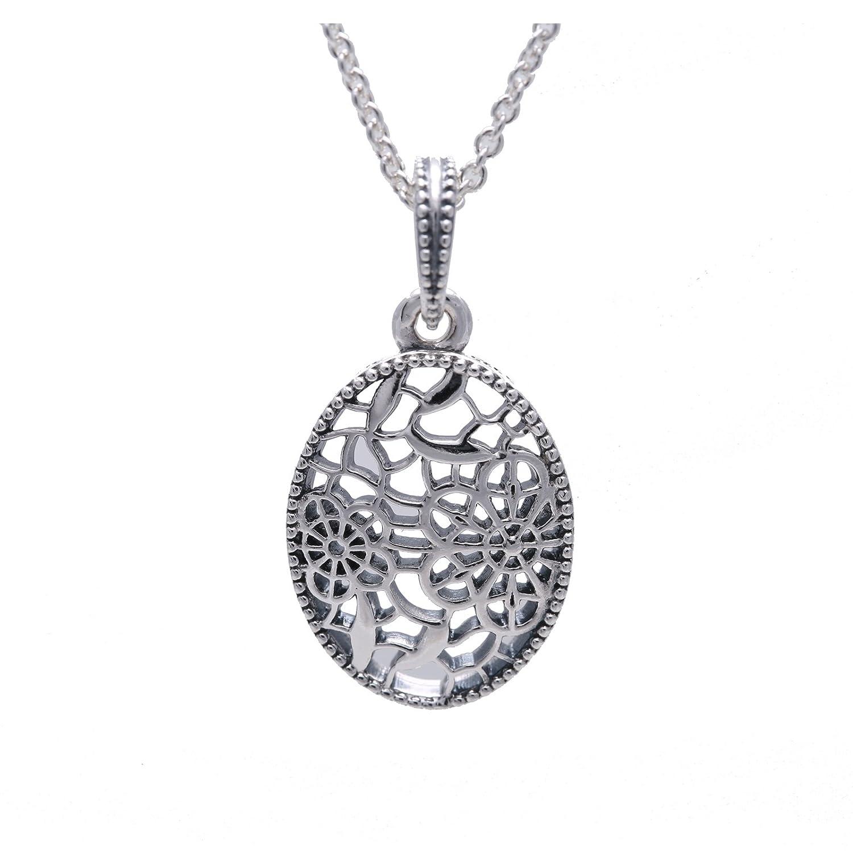5685436ec Amazon.com: PANDORA Floral Daisy Lace Necklace 390383-60: Jewelry