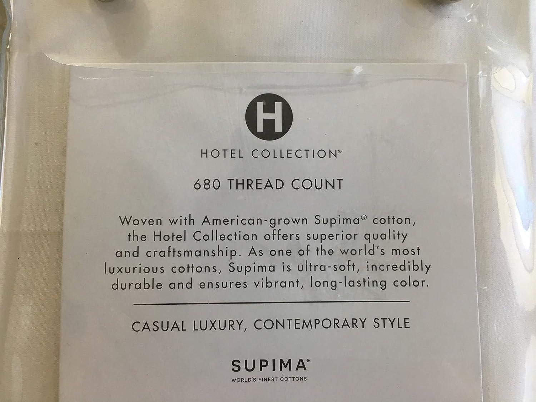 Hotel Collection 680 Thread Count Supima Cotton White Standard Sham
