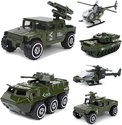 Diecast Army Truck Model Vehicles Toy Cars Collectibles for Birthday Gifts