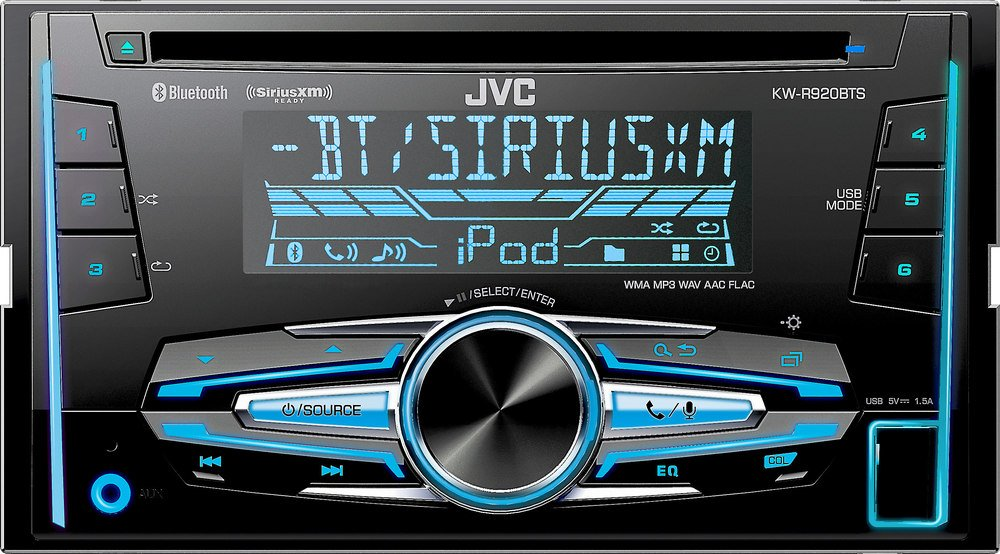 Amazon.com: JVC KW-R920BTS Built-In Bluetooth/Satellite Radio-Ready ...