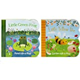 Pack Chunky Lift-a-Flap Board Books: Little Yellow Bee/Little Green Frog Lift-a-Flap Books (Babies Love)