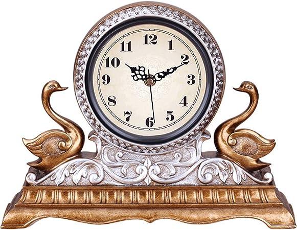 JBP max Reloj de jardín Reloj de Soporte con Estilo Creativo Reloj de salón Dormitorio Retro Reloj mudo-JBP42,A: Amazon.es: Hogar