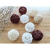 9 pcs Round Natural Decorative Wood Balls