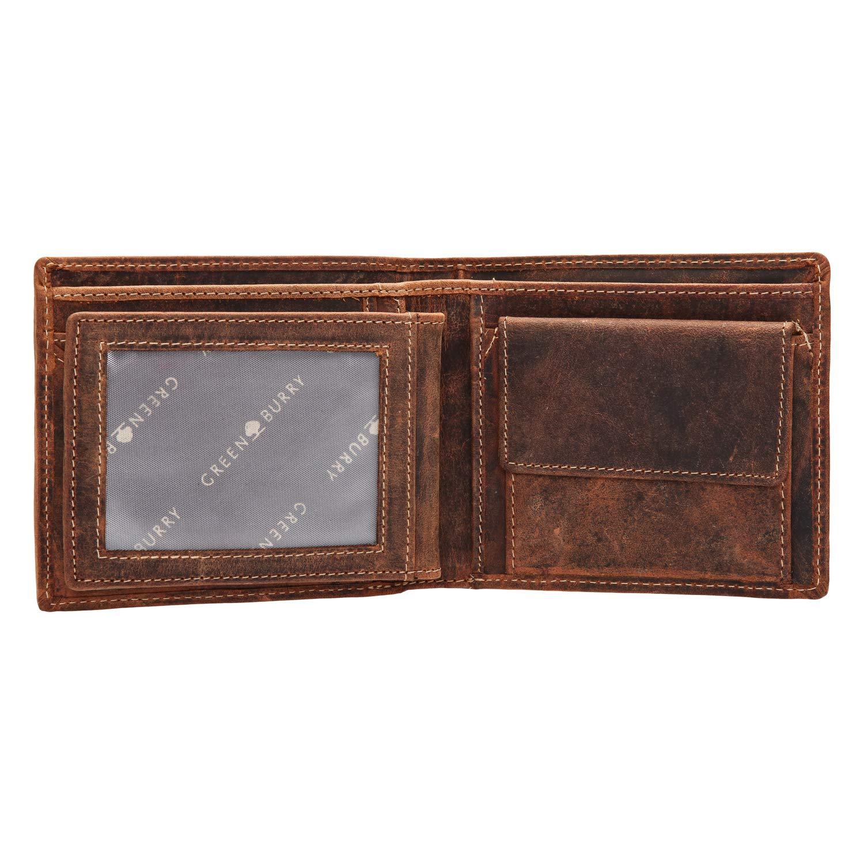Greenburry Vintage Adler Geldbörse Leder 12 cm
