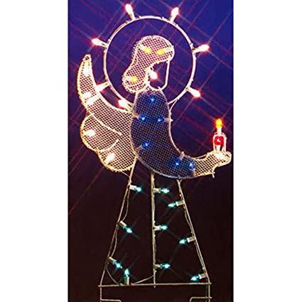 northlight seasonal 31082832 angel nativity silhouette lighted wire frame christmas yard art decoration