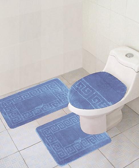 large toilet seat covers. large toilet seat lid covers  amazon com 3 piece bath rug set pattern bathroom 20 Large Toilet Seat Lid Covers Gray Elongated