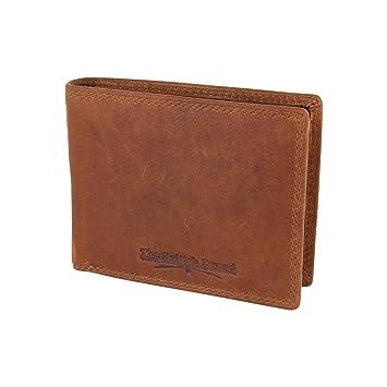 Herren Geldbörse Portemonnaie British Brand Mit Rfid Schutz Und Visitenkarten Leder Gewachst Nachhaltig 13 10 2 Cm