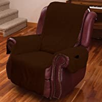 Superbe MSR Imports Recliner Chair Cover One Piece W/Armrests And Pockets   One  Size Fits