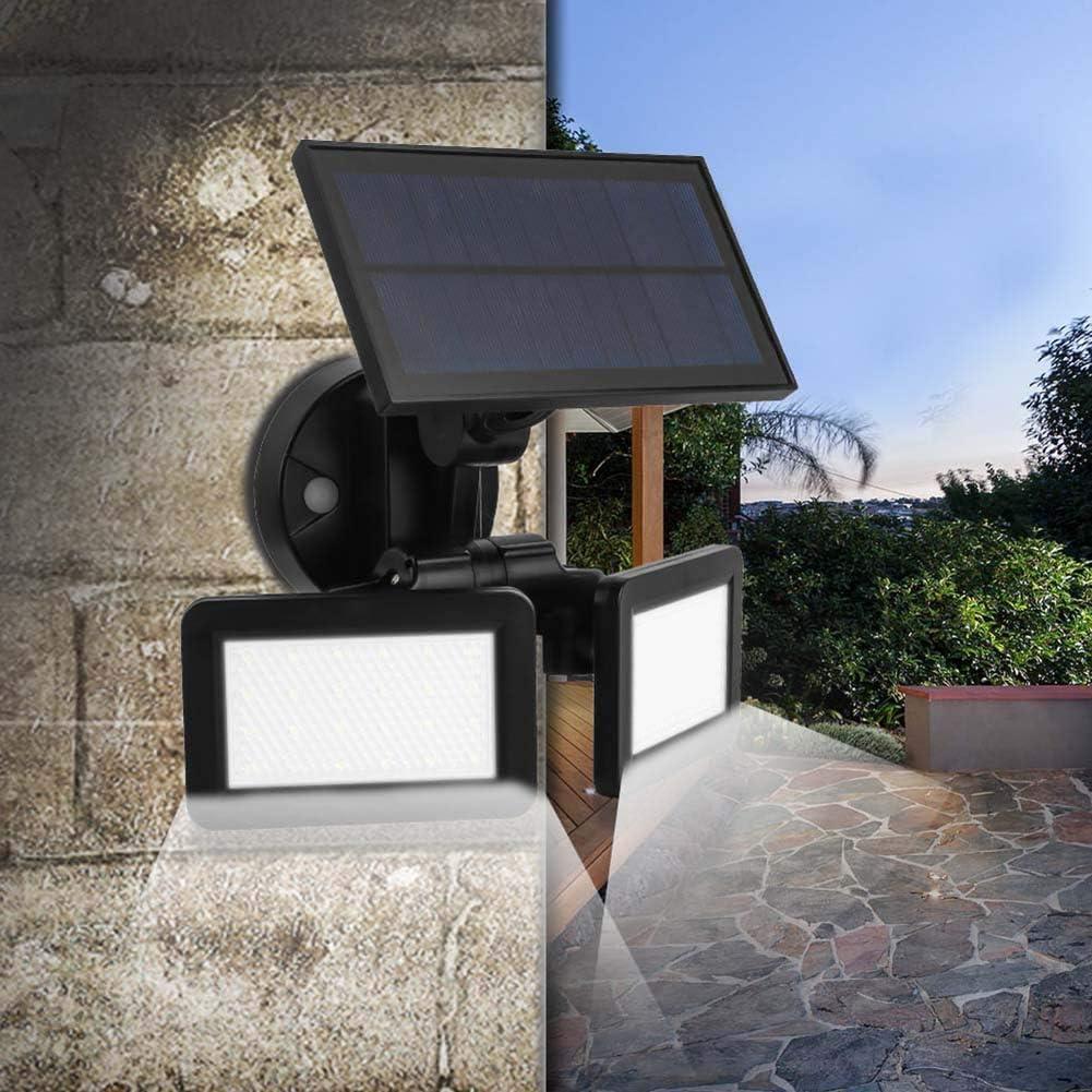 FENNGG Foco Solar Exterior, 5W Foco Led Solar Jardín, iluminacion Exterior Solar,IP65 Impermeable Luz Solar Exterior,Lampara Solar para Jardins, Garaje, Acera, Escaleras, Patios Terrazas: Amazon.es: Deportes y aire libre