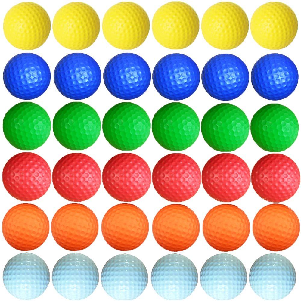 Dsmile Foam Golf Practice Balls - 36 Pack   Light Soft Elastic Training Multifunction Sport Balls by Dsmile