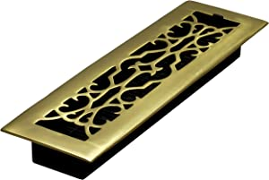 Decor Grates A212 2-Inch by 12-Inch Victorian Floor Register, Solid Brass
