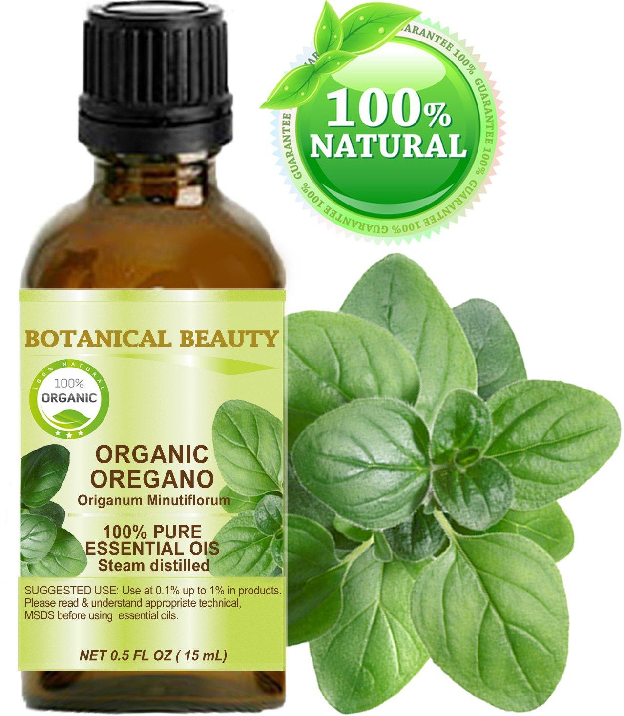ORGANIC OREGANO ESSENTIAL OIL WILD GROWTH. 100% Pure Therapeutic Grade, Premium Quality, Undiluted. (0.5 Fl.oz - 15 ml.)