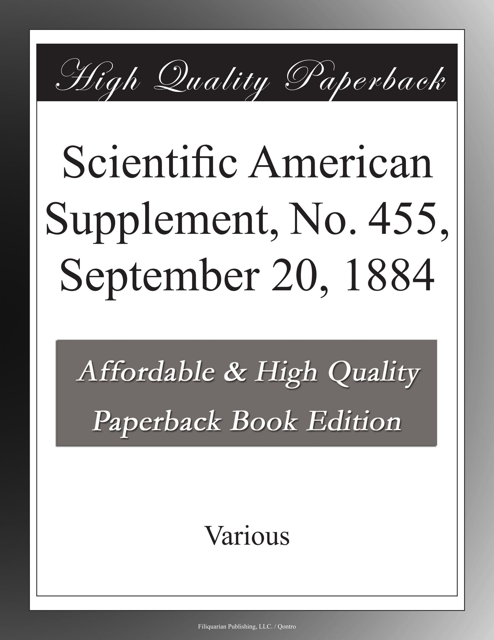 Scientific American Supplement, No. 455, September 20, 1884 ebook