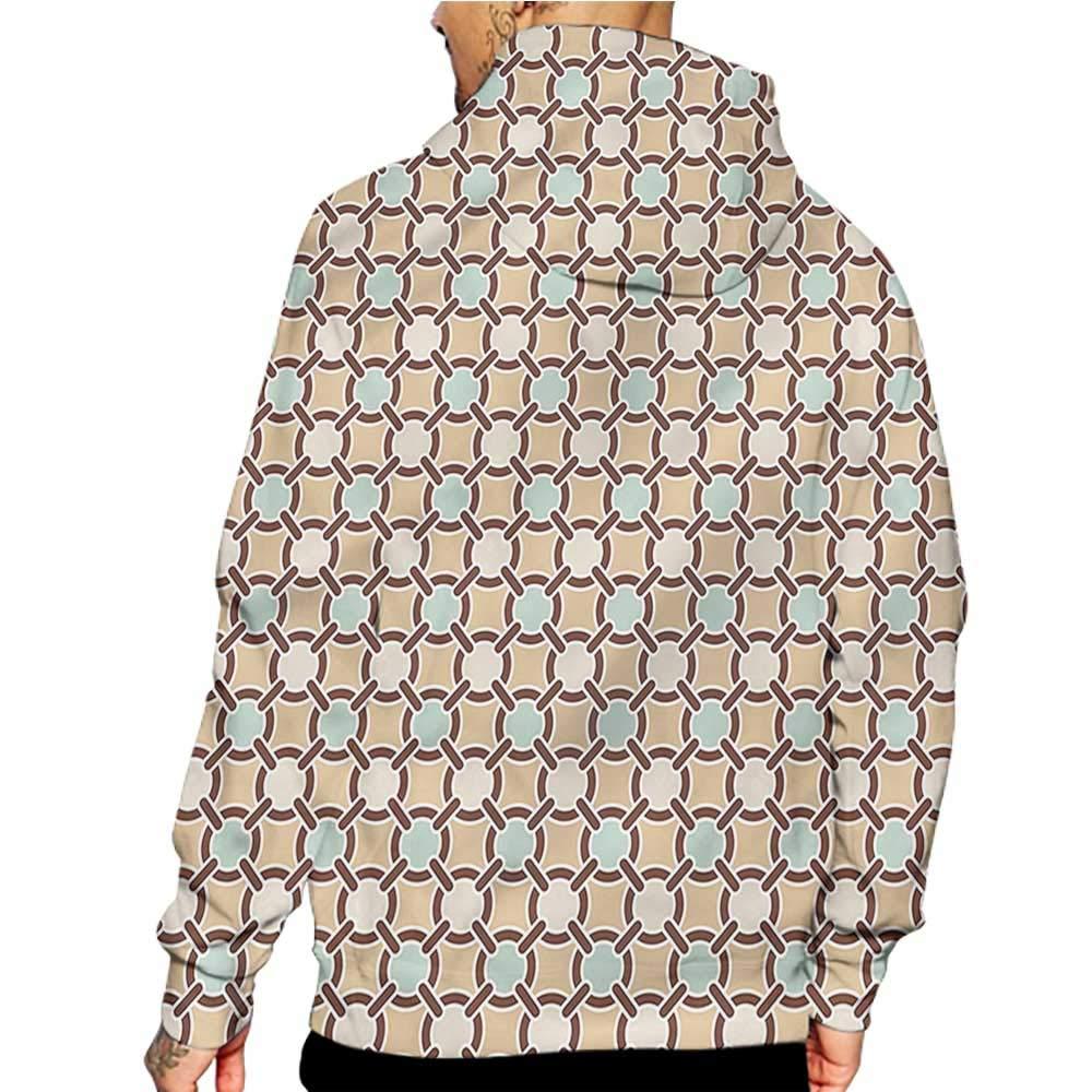 Hoodies Sweatshirt/Autumn Winter Abstract,Floral Circles and Stripes,Sweatshirt Blanket Throw