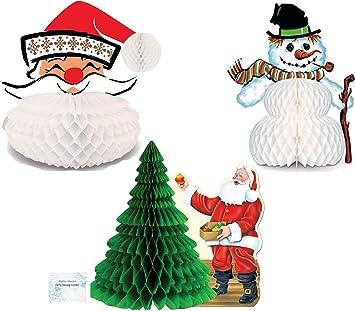 Juego de 3 centros de mesa de Navidad vintage – Juego de centros ...