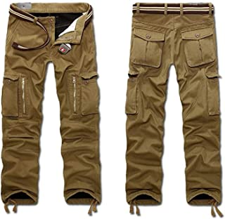 Avory-Fine Faddish Men Cargo Pants 2018 Winter Fleece Thick Warm Pants Multi Pocket Army Green Military Baggy Tactical Long Trousers Male Clothing, 31