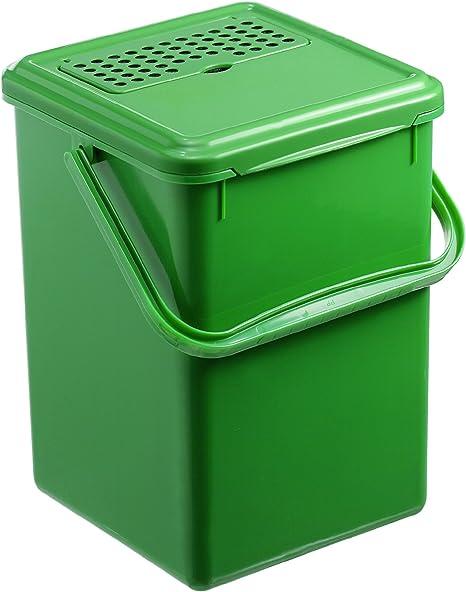 Rotho 1779905053 Komposteimer Bio Abfallbehälter, für die Küche aus Kunststoff mit geruchsdichtem Deckel und Aktivkohlefilter, Biomülleimer mit 8