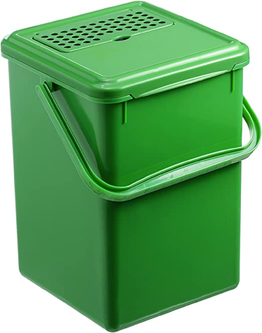 Rotho 483325 Cubo para Compost, de plástico, Negro, 27.2 x 21.4 x ...