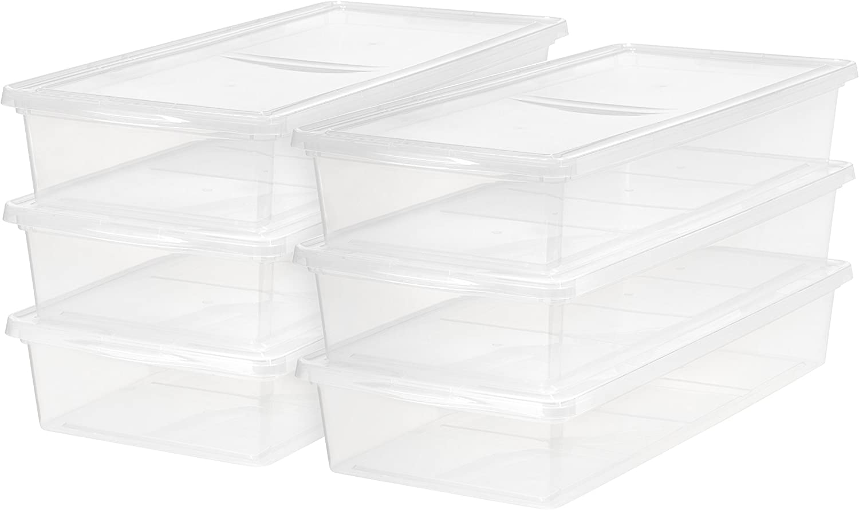 IRIS USA, Inc. CNL-41 41 Quart Clear Storage Box, 6 Pack