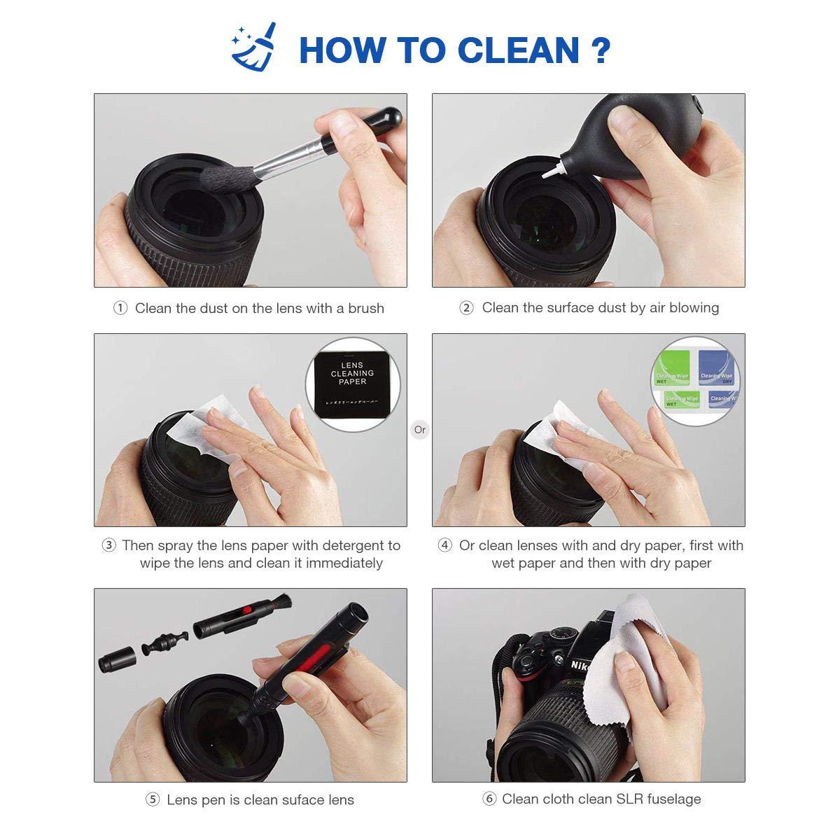 FOONEE - Kit de Limpieza Profesional para Objetivo óptico y cámara ...