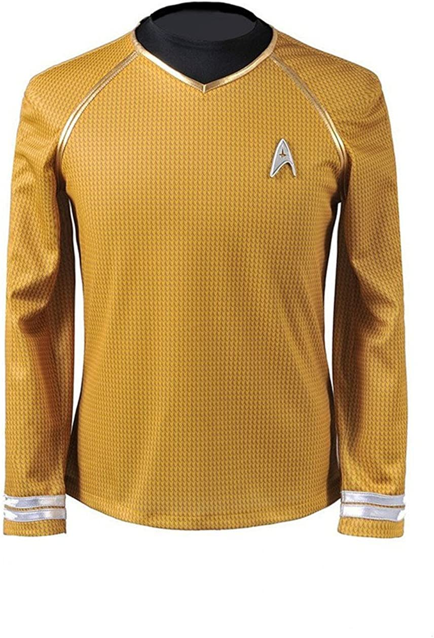 Cosparts Into Darkness Yellow Captain Man's Cosplay T-shrit