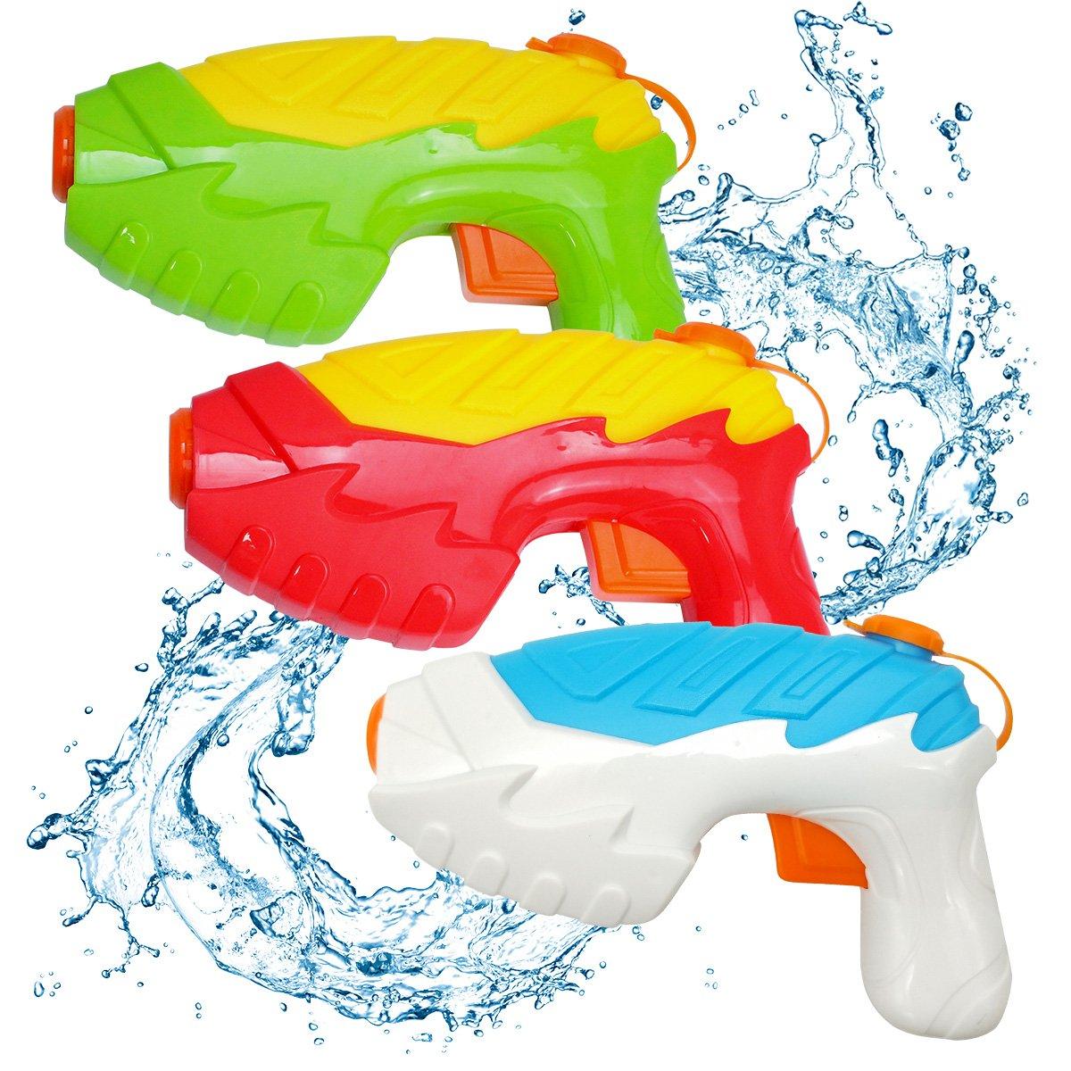 QUN FENG Water Gun, Water Soaker 3 Pack Squirt Shooter Gun for Kids Summer Outdoor Super Games