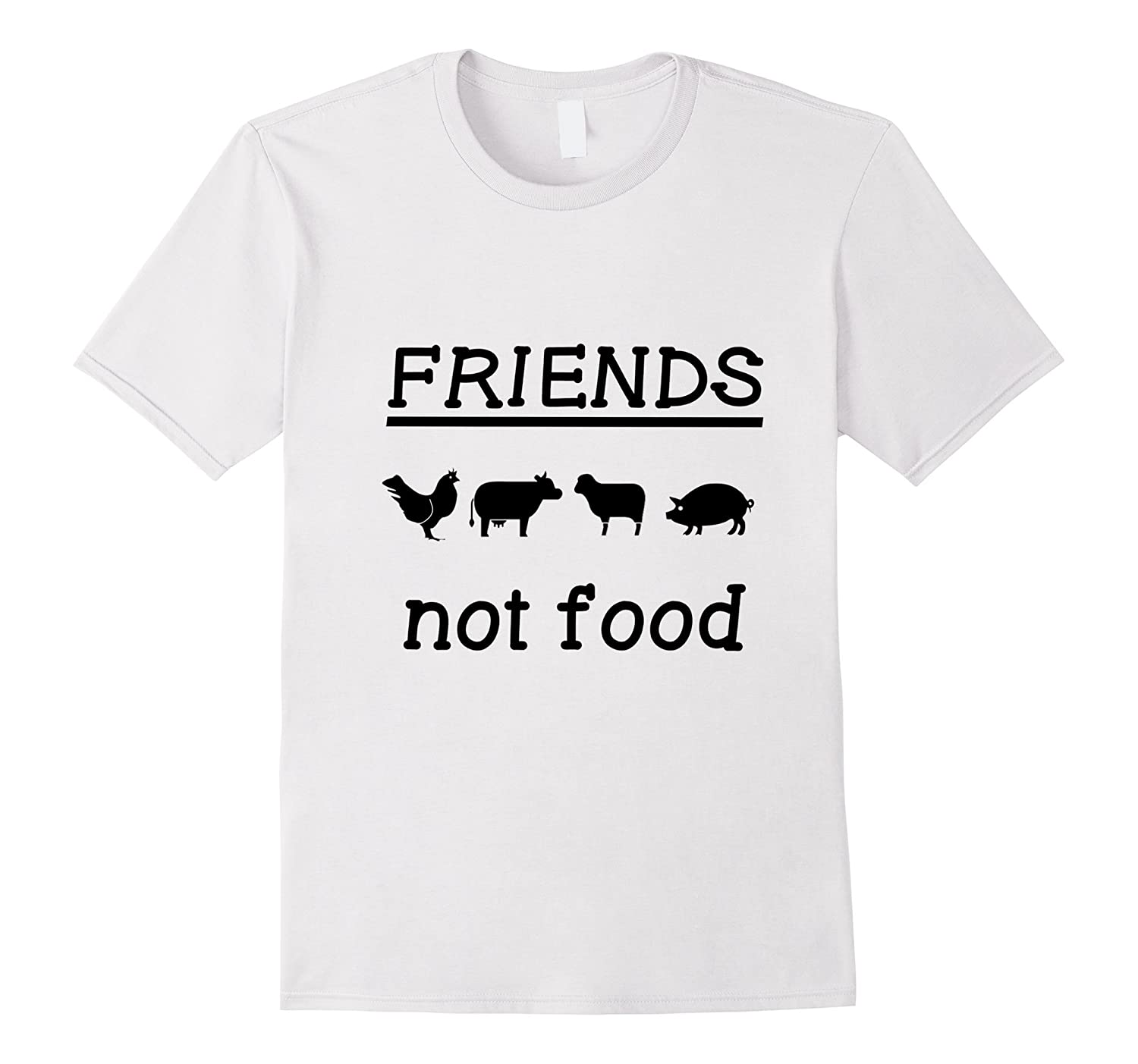 Friends Not Food T-shirt-Vegan animal lovers and vegeterian-TD
