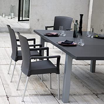 GROSFILLEX - Table extérieure extensible 160/240x120 INEO design ...