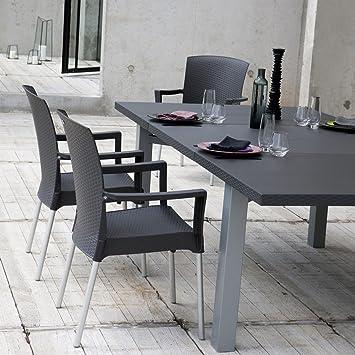 Amazon.de: Grosfillex - Tisch Außen ausziehbar 160/240 x 120 ...