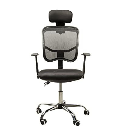 HomCom A2 0094 Adjustable High Back Mesh Office Chair Swivel Computer Desk  Seat With Headrest