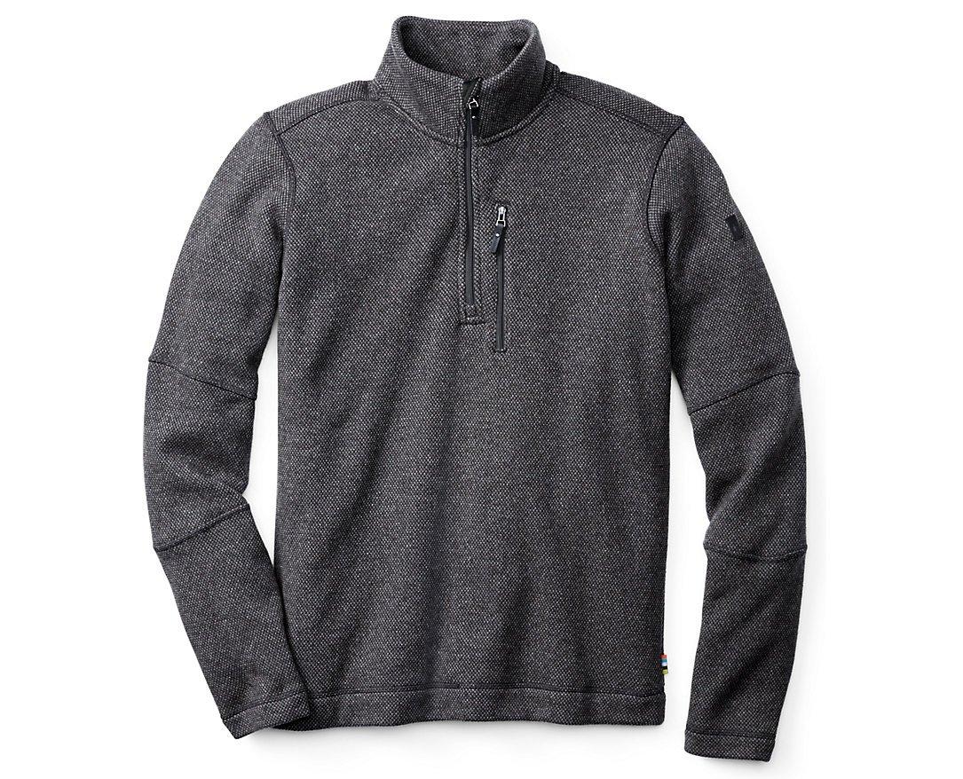 Smartwool Men's Heritage Trail Fleece Half-Zip Sweater (Charcoal Heather) Medium