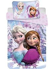 6145746a2c Disney Frozen Anna Elsa Lenzuola Copripiumino Set Letto Singolo e Federa  140x200 Cotone Originale Biancheria da